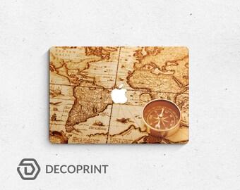 Vintage old map notebook laptop skin decal vinyl 3M quality MacBook Pro Retina MacBook Air