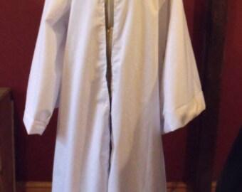 Jedi Robe In White Cotton Drill/Larp/Pagan/Fantasy