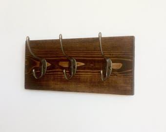 Key Hooks, Rustic Key Organizer, Wall Mounted Key Rack, Coat Hooks, Coat Rack, Towel Hooks, READY TO SHIP!