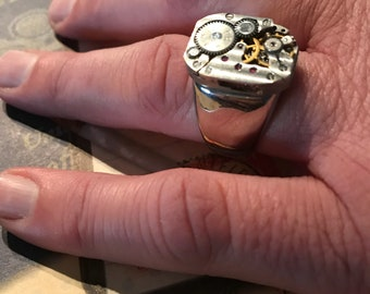 Mens Rings, Steampunk, Steampunk Ring, Graduation Gifts, Groomsmen Gift, Jewelry, Steampunk Jewelry, Unisex, Mens Steampunk,Fathers Day Gift