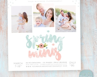 Spring Marketing Board Mini Session - Photoshop template - IE021 - INSTANT DOWNLOAD