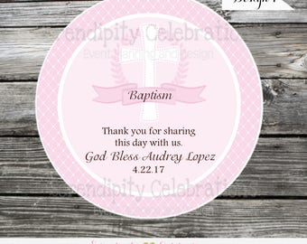 Baptism favor tags, Confirmation Favor tags, First Holy Communion Stickers, Religious, Set of 12 Personalized Favor Tags, Stickers, Baptism