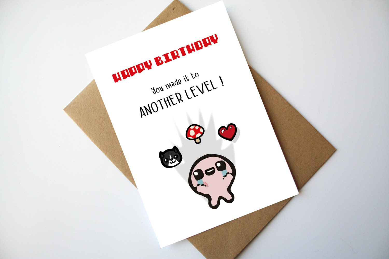 The Binding Of Isaac Birthday Card You Made It To Another