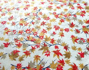 Hand-screened Chiyogami/Yuzen Paper Sheet 12x9 inches (31.5x23.25cm)
