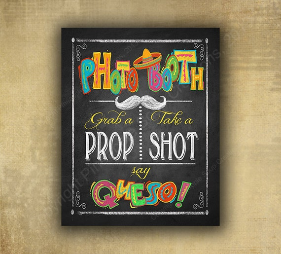 Fiesta Photo Booth Printed Sign