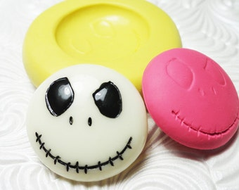 Skull Skeleton Mold Mould Silicone Rubber Push Mold for FIMO Metal Clay Resin Wax Fondant Clay Ice
