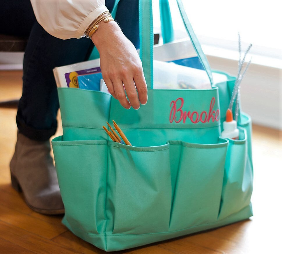 Monogram Carryall, Monogram Utility Tote, Personalized Teacher Gifts ...