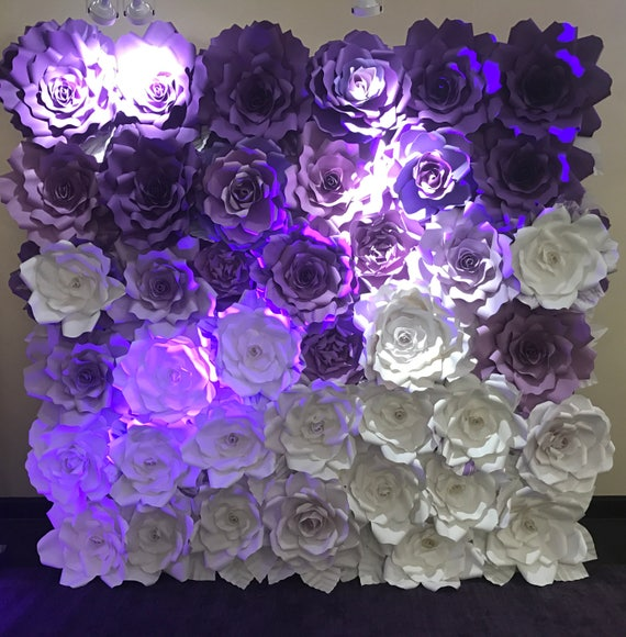 Paper flower backdrop giant paper flowers wall paper mightylinksfo