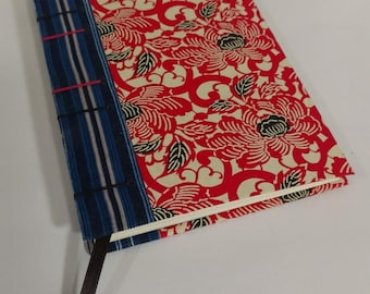 Red Flower Coptic Bound Journal