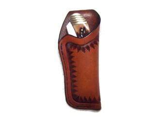 Custom Leather Medium Knife Sheath with belt loop grs