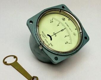 vintage gauge steampunk gauge fluorescent gauge vintage meter russian soviet steampunk gauge steampunk gauge meter