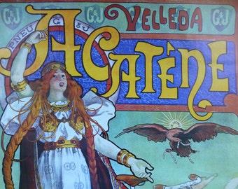 Velleda Acatene - Athena Poster - 1976 - 589x887mm
