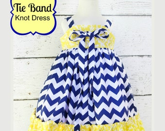 Tie Band Knot Top or Dress sizes nb through 12 girls PDF Whimsy Couture Sewing Pattern Tutorial