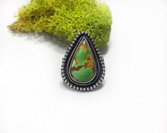 Royston turquoise ring, turquoise ring, sterling silver ring, turquoise jewelry, statement ring
