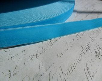 5/8 inch Turquoise Sky Blue Velvet Ribbon