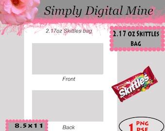 YOU Design!!! 2.17 oz Skittles bag Templates!!