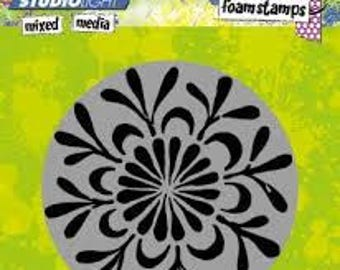 Flower Foam Stamp - Mixed Media - Studio Light -  New from Europe