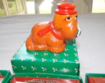Vintage 1970's Sesame Street holiday ornament SNUFFLEUPAGUS Rare