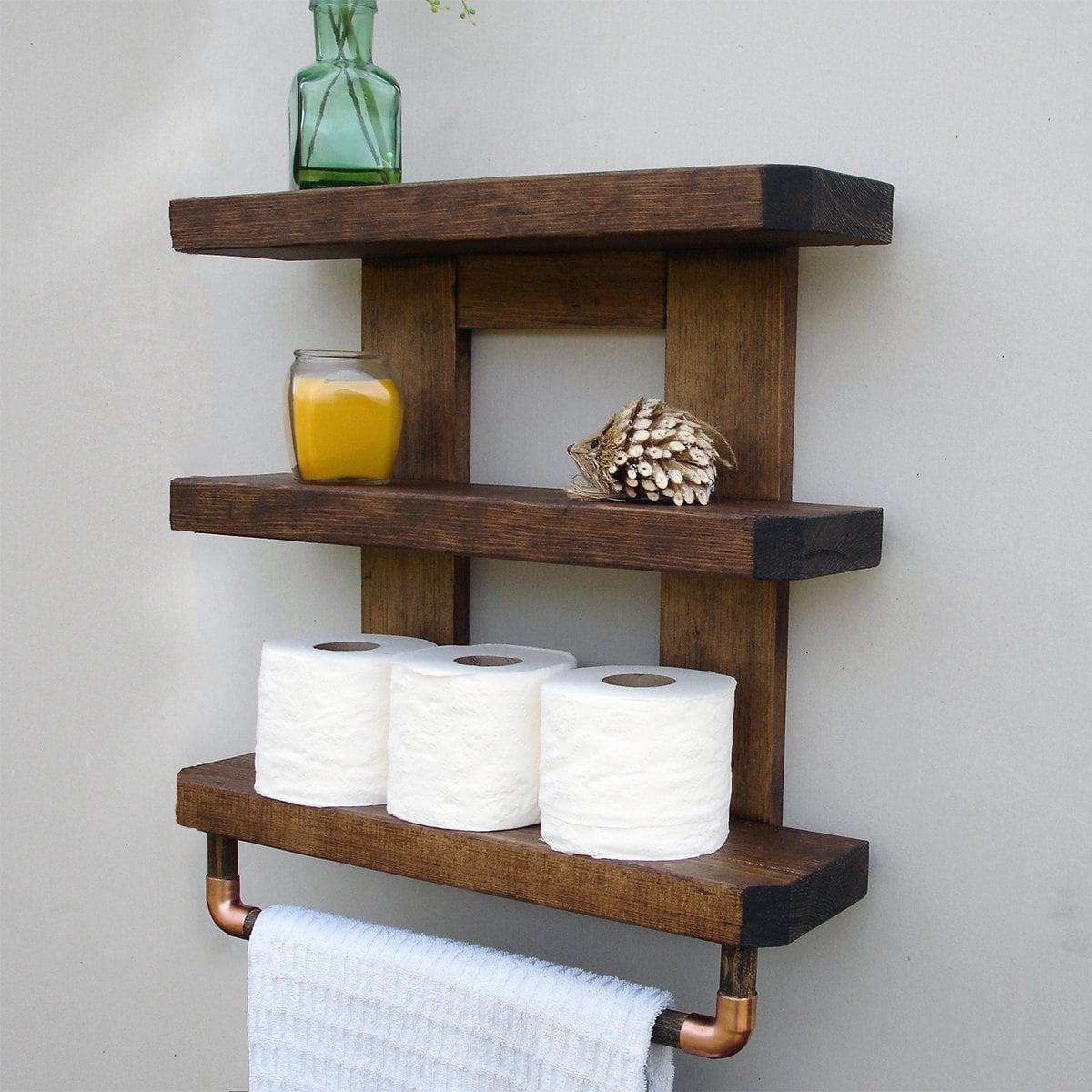 Perfect Rustic Bathroom Shelves