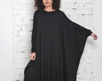 Caftan Maxi Dress/ Plus Size Kimono Dress/ Japanese Kimono Robe/ Robe Dress/ Long Kimono/ Maxi Loose Dress/ Batwing Dress/ Party Long Dress