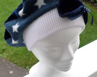 Comfortable kids fleece beret unique winter Hat Cap