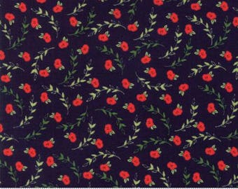 INSTOCK Creekside Posies Midnight 37532 16 by Sherri and Chelsi from Moda -1 yard