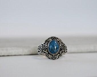 Sterling Silver Blue Sodalite Ring