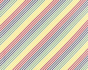 SALE - Moda - Fresh Air by American Jane - Fresh Air Bias Stripe - Primary