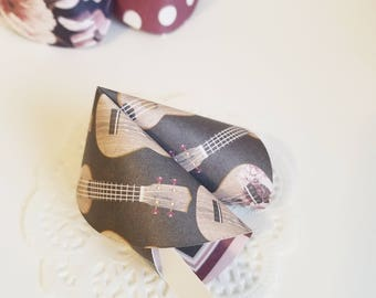 Bridal Shower Favors Paper Fortune Cookies Set of 24 Guitars and Floral Print Party Favors Wedding Favors Fun Gifts Made To Order