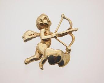 Cupid Pandant 10K Yellow Gold