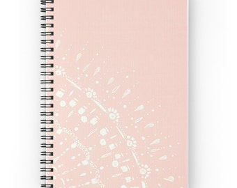 Blush Pink Lace Notebook, pink journal, pink notebook, mandala notebook, mandala journal, blush notebook, lace notebook, spiral notebook