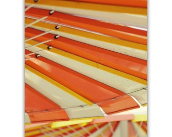 photography // mid century modern art // sixties - orange stripes