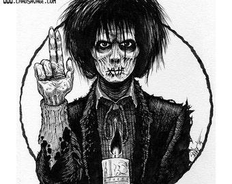 Halloween Saints: Billy Butcherson Original Ink Art by Chad Savage