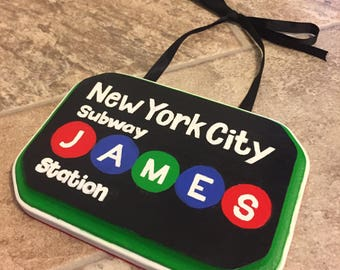 NYC Subway Name Plaque