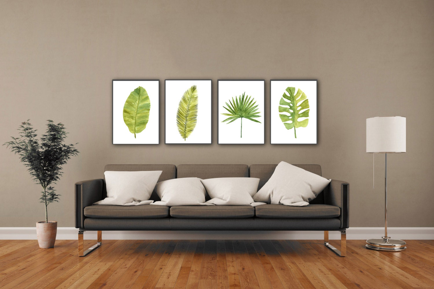 Palm leaf watercolor painting abstract leaves minimalist fine zoom amipublicfo Images