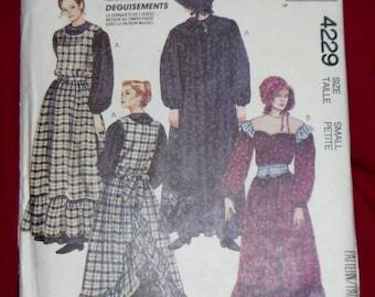 Vintage McCall's Costume Pattern #4229 Size Small 1989 Uncut & Unused