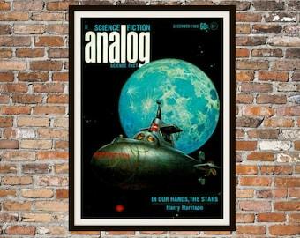 Sci fi Print Poster, Analog Vintage Magazine Print, Vintage Print, Dime Magazine, Analog Magazine Sci-Fi Art Item 0195