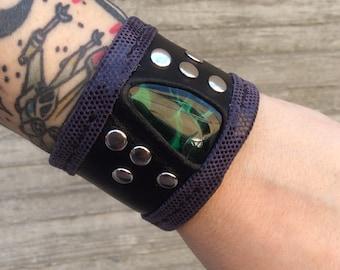 glass cuff bracelet jewelry