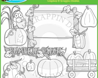 Pumpkin Patch Line Art