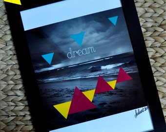 "Poster Poster ""Dream"" A4, photography black & white"