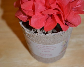 50 Seed Bomb & Peat Pots/Plantable Seed Paper and Pots/Wedding Favors