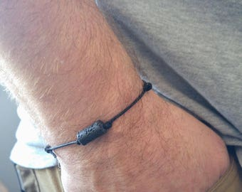Mens Essential Oil Bracelet, Boys Diffuser Bracelet, Lava Bracelet, Masculine Bracelet, Boyfriend Bracelet, Mens Summer Bracelet, Boy's Gift
