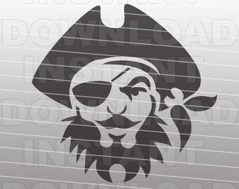 Pirate SVG File Cutting Template - Clip Art for Commercial and Personal Use - Cricut, SCAL, Cameo, Sizzix, Pazzles