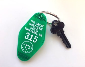 Twin Peaks The Great Northern Hotel Room Key Ring - Keychain - Laser Cut Acrylic
