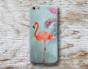 Flamingo Palm Phone Case for iPhone 4 4s 5 5s SE 5C 6 6S 7 8 PLUS X iPod Touch 5 6 Oneplus 2 3 5 1+2 1+3 1+5