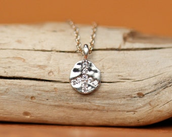 Peace sign necklace - crystal peace symbol necklace - silver peace sign - gold peace sign - rose gold peace sign necklace