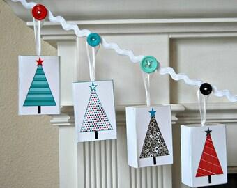 Advent Calendar garland, Matchbox advent calendar, Merry Christmas banner, Christmas Countdown, Modern Christmas