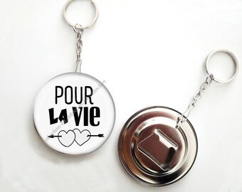 Keychain bottle opener - 56mm - for life