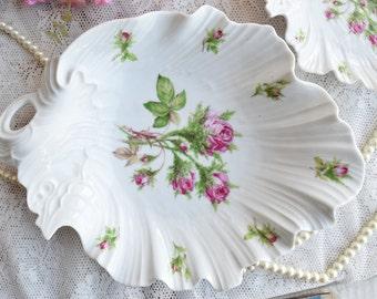 vintage plate set german porcelain plate Royal Tettau Germany dessert plate set german leaf shape plate set beautiful leaf shaped plate
