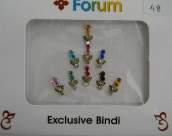 Crystal Diamante Bindi Stick On Bollywood Indian Body Tattoo Art Gem Jewel - Forum #48